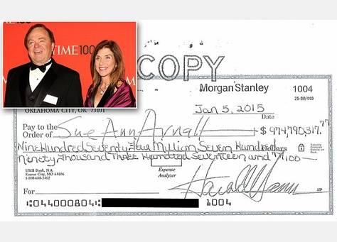مطلقة هام ترفض شيكا بمبلغ 975 مليون دولار لتسوية قضية الطلاق