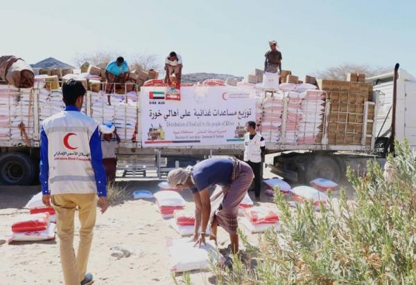الهلال الإماراتي يواصل توزيع المساعدات الإغاثية لذوي الدخل المحدود بشبوة