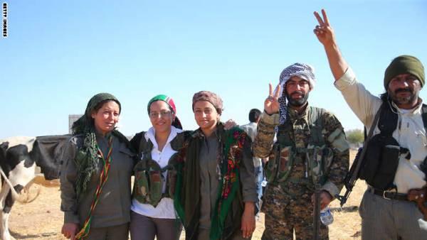 القوات الكردية تسيطر على كامل مناطق عين العرب &#34كوباني&#34 وتطرد داعش