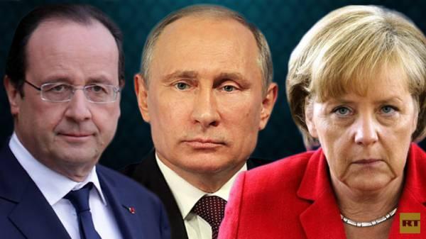 ميركل وهولاند إلى موسكو لبحث سبل وقف الحرب في أوكرانيا مع بوتين