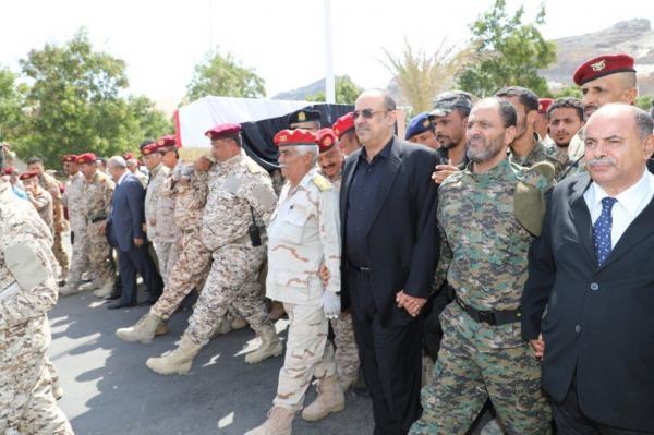 تشييع جثمان الشهيد اللواء الزنداني