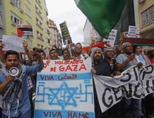 أمريكيون يتظاهرون تنديداً بتغطية إعلامهم المنحاز لإسرائيل