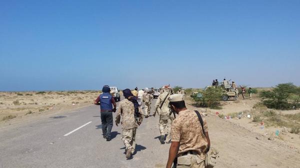 القوات الحكومية تتقدم في مديرية الجراحي بالحديدة