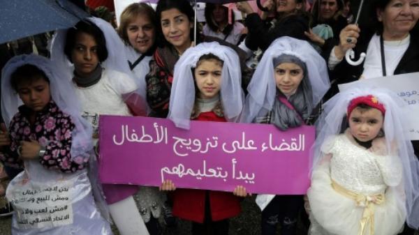 مسيرة تجوب شوارع بيروت للمطالبة بإقرار قانون يمنع تزويج القاصرات