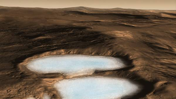 اكتشاف 150 مليار متر مكعب من الماء المتجمد تحت سطح المريخ