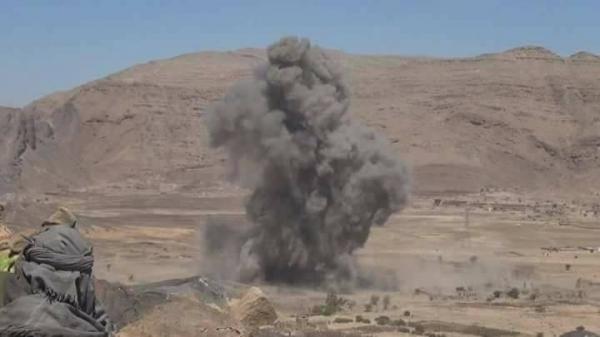 قصف جوي كبد الحوثي خسائر فادحة بالحيمة في صنعاء