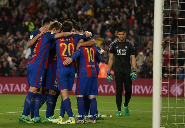 ميسي ينقذ برشلونة من فخ ريال سوسييداد