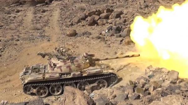 قصف مدفعي يدمر تعزيزات حوثية جنوبي مريس الضالع