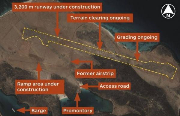 الاحتلال يبني قاعدة عسكرية في جزيرة ميون اليمنية