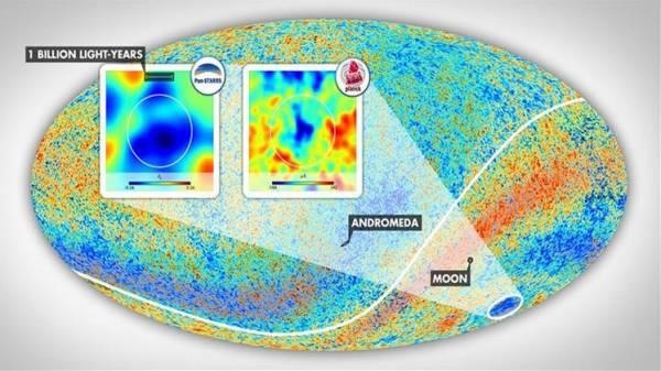 علماء الفلك يكتشفون أكبر منطقة فراغ في الكون قياسه 1.8 مليار سنة ضوئية