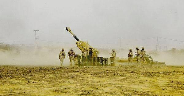 مصـادر: الجيش اليمني تبادل القصف المدفعي مع الحرس الوطني السعودي شرق حرض