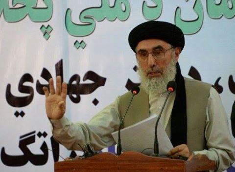 زعيم الحرب السابق حكمتيار يعود للحياة السياسية في افغانستان ويدعو طالبان الى السلام