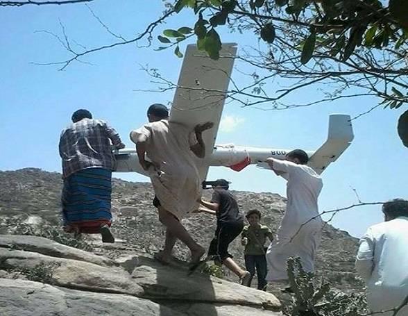 بالصــور| الحوثيون يسقطون طائرة &#34استطلاع&#34 على الحدود اليمنية السعودية