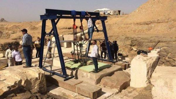 العثور على قبر ابنة أحد ملوك الفراعنة في دهشور جنوب القاهرة