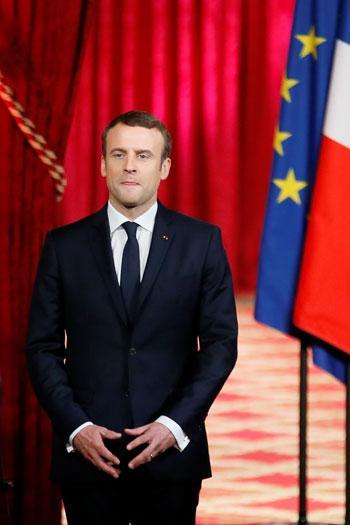 ماكرون في حفل تنصيبه: مكانة فرنسا تراجعت
