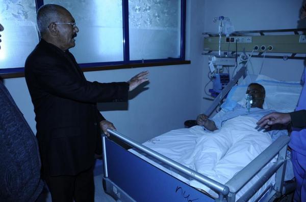 الزعيم صالح يزور الشيخ المصري