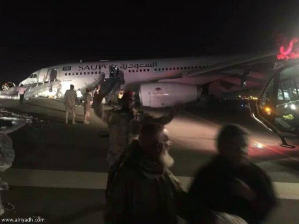 هبوط طائرة سعودية بلا عجلات على متنها 151 راكباً بمطار جدة