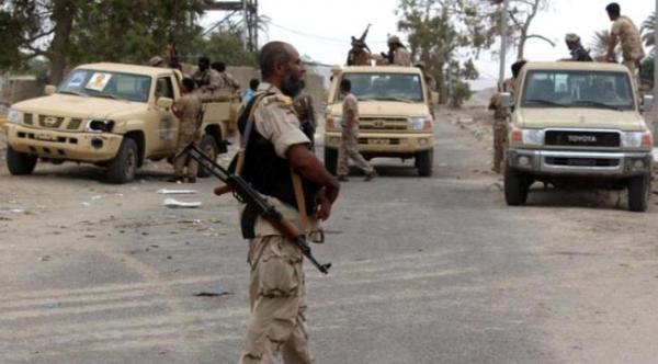 إصابة ثلاثة جنود بانفجار عبوة ناسفة في مدينة المحفد بأبين