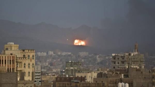 غارات جوية استهدفت تجمعات ومواقع حوثية بصنعاء