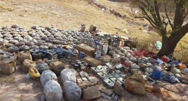 فريق هندسي ينتزع عشرات الألغام الحوثية في باقم صعدة