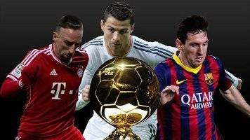 ميسي وكريستيانو وريبيري يتصارعون على الكرة الذهبية