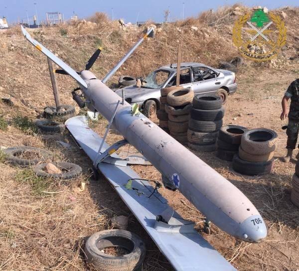 سقوط طائرة إسرائيلية من دون طيار فوق طرابلس اللبنانية