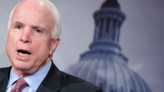 إصابة السيناتور الأمريكي جون ماكين بسرطان الدماغ