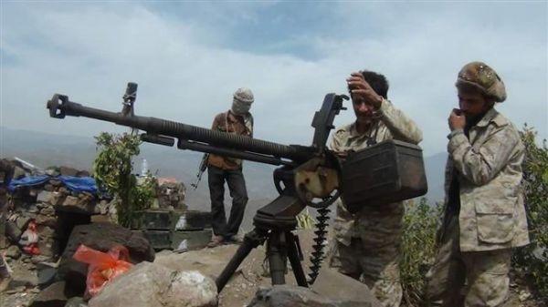 إفشال محاولة تقدم للحوثيين في جبهة مريس بالضالع