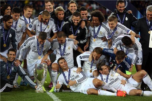 ريال مدريد يحقق بطولة السوبر الأوروبي لكرة القدم