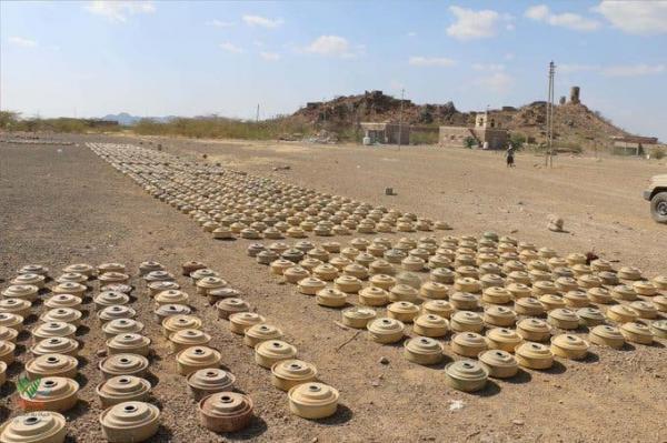 &#34مسام&#34: نزعنا حتى الآن 80 ألف لغماً زرعها الحوثيون