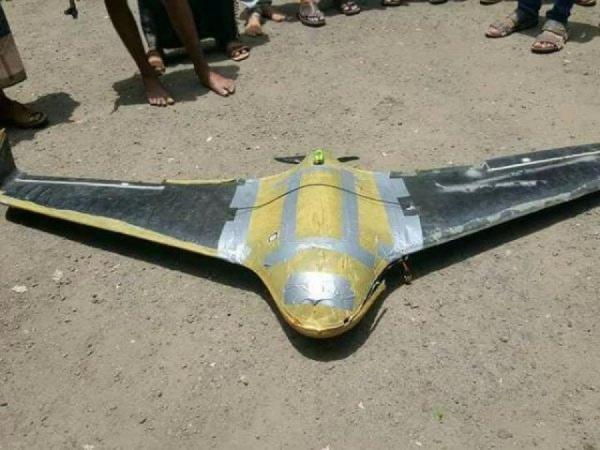 سقوط طائرة حوثية مسيرة على المدنيين في عمران بعد اقلاعها من صنعاء