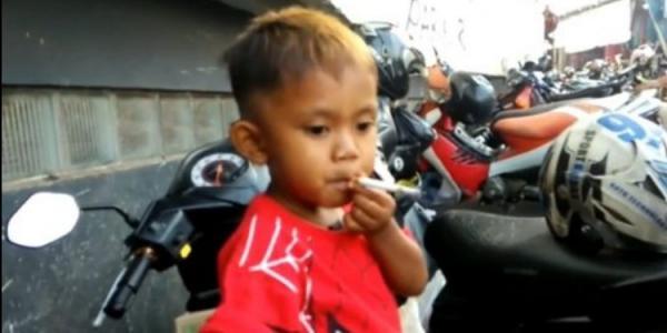 فيديو: طفل يدخن 40 سيجارة في اليوم!