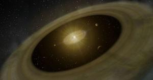 علماء يرصدون كوكبًا غازيًّا عملاقًا وهو يشكِّل أقمارًا جديدة