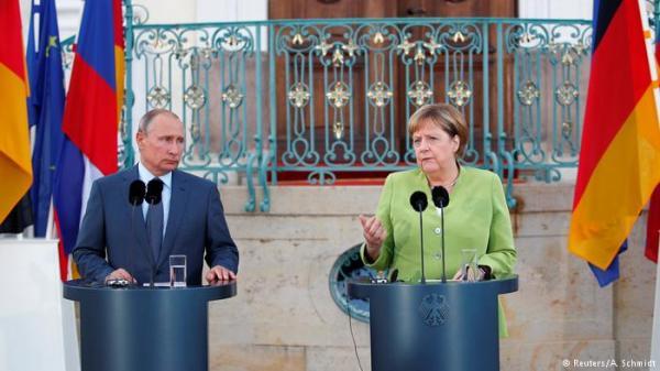ميركل تستقبل بوتين: يجب تجنب حدوث أزمة إنسانية في سوريا