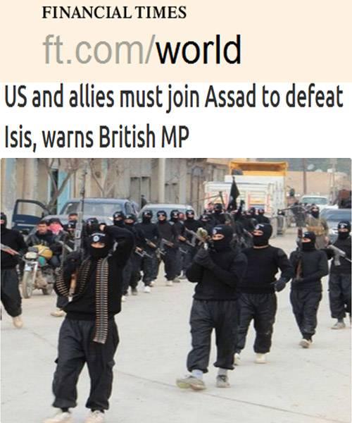 نائب بريطانى بارز يدعو واشنطن وحلفاءها إلى التعاون مع الأسد لدحر &#34داعش&#34