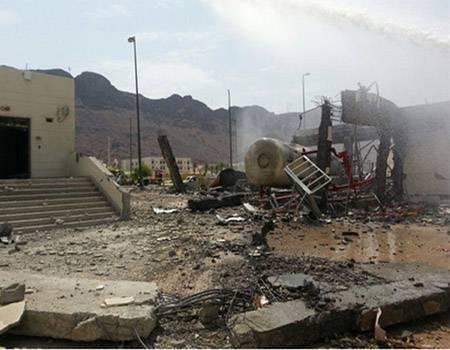 بالصور..مقتل خمسة أشخاص في انفجار بالمدينة المنورة