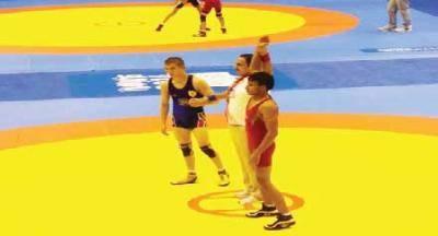منتخب مصارعة اليمن رابع أولمبياد الشباب في الصين