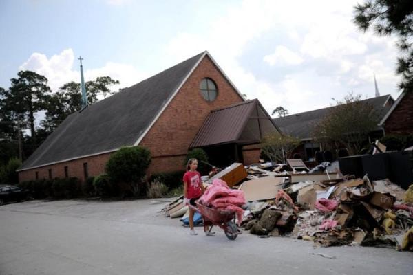 180 مليار دولار خسائر إعصار هارفي في تكساس