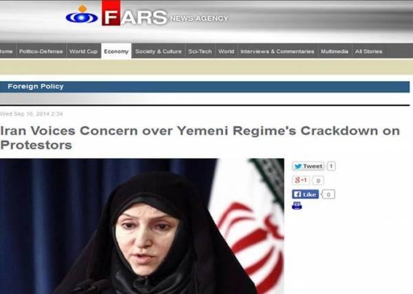 قلق إيراني من قمع المتظاهرين في صنعاء