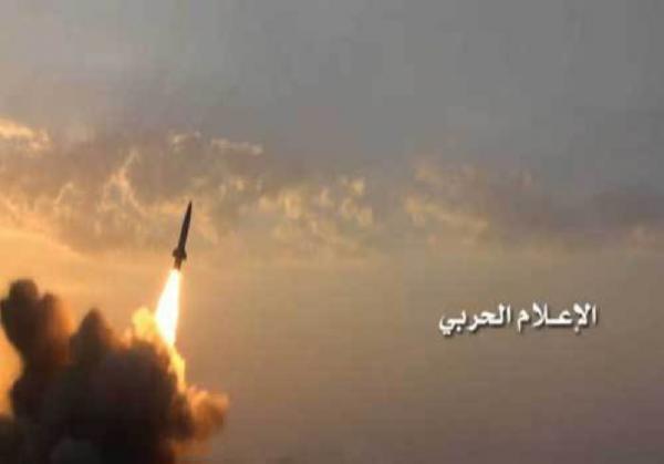 صاروخ باليستي &#34قاهر ام تو&#34 يدك قاعدة الملك خالد