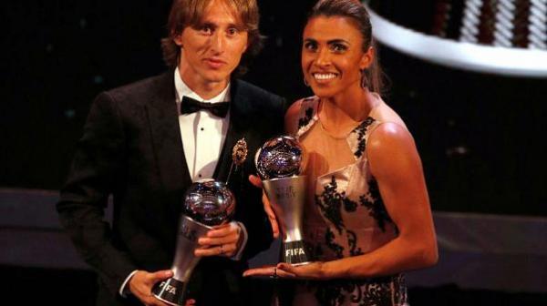 مودريتش ومارتا الأفضل في كرة القدم 2018