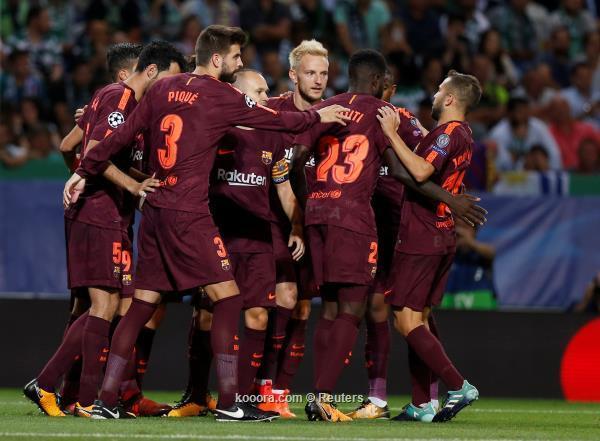 برشلونة ينتصر بصعوبة على مضيفه سبورتنج لشبونة في دوري الأبطال