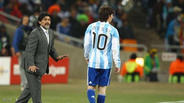 مارادونا لميسي: ارحل.. أنت من أفشلت الأرجنتين في مونديال روسيا!