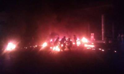 حريق هائل يلتهم محطة الشامي للبنزين بالعاصمة صنعاء