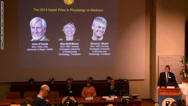 الأمريكي أوكيفي يقتسم &#34نوبل للطب&#34 مع النرويجيين موسر لاكتشاف &#34جي بي إس&#34 الدماغ