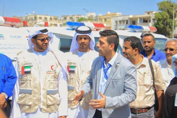 بدعم من الهلال الإماراتي ومركز سلمان.. الهجرة الدولية تسلم وزارة الصحة 7 سيارات إسعاف