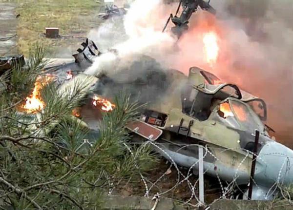تحطم طائرة حربية روسية بسوريا