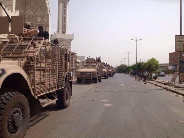 استهداف رتل عسكري سعودي بمنصورة عدن