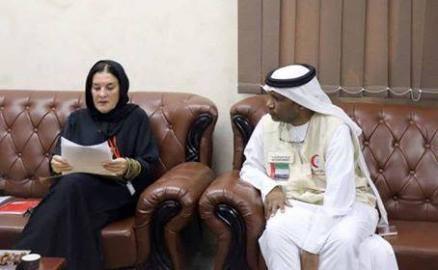 ممثل الهلال الاماراتي يلتقي مفوضية اللاجئين لدعم نازحي الساحل الغربي