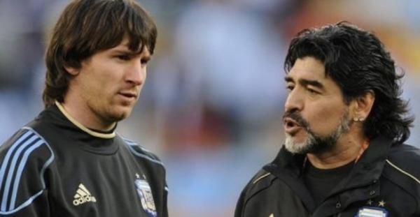 مارادونا عن ميسي: يصعب صنع قائد من لاعب يذهب للحمام 20 مرة قبل المباراة